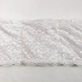 White Lace Lycra Waistband (Small)