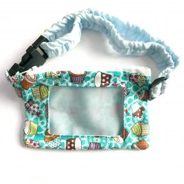 Cupcakes Teal Clear Screen Pump Pouch 16″ – 23″