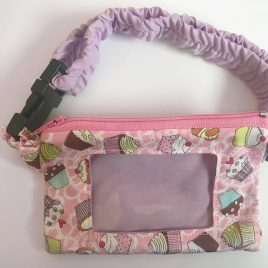 Cupcakes Pink Clear Screen Pump Pouch 16″- 23″