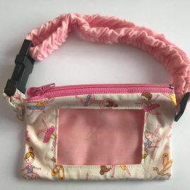 Ballerina Pink Clear Screen Pump Pouch 16″- 23″