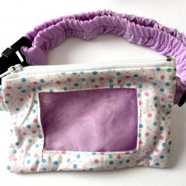 Pastel Spotty Clear Screen Pump Pouch 16″- 23″