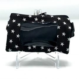 Stars Black Clear Screen Pump Pouch 32″-40″