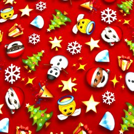 Christmas Emoji Lycra Waistband (Small) – Made to order