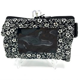 Black Ditsy Floral Clear Screen Pump Pouch 16″ – 23″