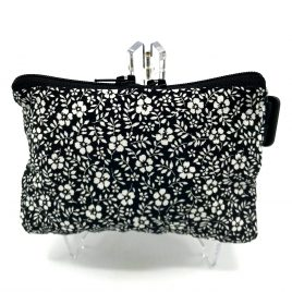 Black Ditsy Floral Pump Pouch 16″ – 23″