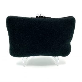 Soft Black Pump Pouch with Belt Loop