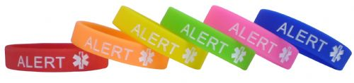 Type 1 Diabetes Alert Wristband – Large writing (ADULT)