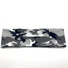Grey Camo Slim Lycra Band