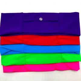 Block Colour Slim Lycra Band (various colours and sizes available)
