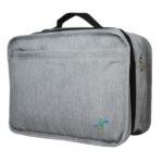 2 Grey Tavel Bag Side View WEB cj lighten
