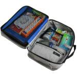 5 Grey Travel Bag set up back WEB