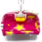 Pink with Yellow Stars Back