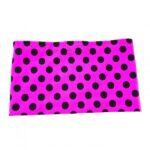Pink and black polka dot