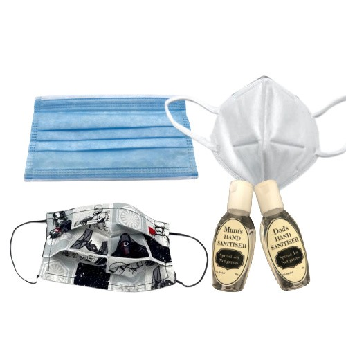 Face Masks and Hand Sanitisers